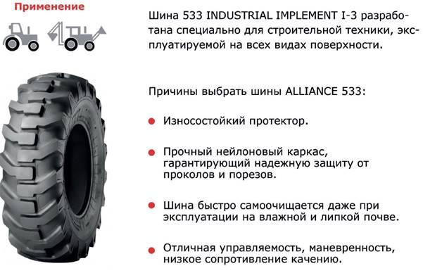Шина для погрузчика Alliance 16.9-28 533 cat.no 53305512AL-IN (нс 12)