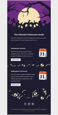 holiday free email template