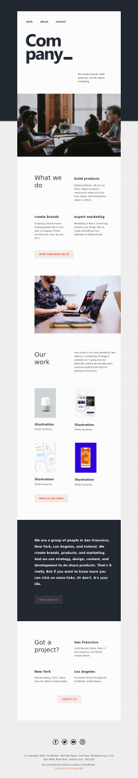 business free email template